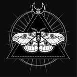 Mite magique Symbole ésotérique, la géométrie sacrée illustration libre de droits
