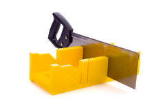 Miter Box with Saw Royalty Free Stock Image