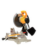 Miter Saw Isolated on White Stock Photography