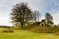 Mitford Castle keep remains Royalty Free Stock Photography