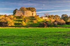 Mitford Castle beside River Wansbeck stock photos