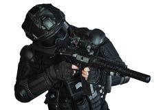 Mitglied des SWAT-Teams Stockbild