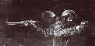 Mitglieder der Abteilung der besonderen Kräfte Lizenzfreies Stockbild