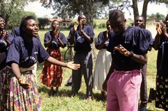 Mitglieder der GemeinschaftsReproduktionsgesundheit-Arbeitskräfte, Uganda lizenzfreie stockbilder