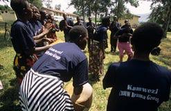 Mitglieder der GemeinschaftsReproduktionsgesundheit-Arbeitskräfte, Uganda lizenzfreie stockfotografie
