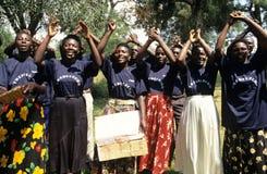 Mitglieder der GemeinschaftsReproduktionsgesundheit-Arbeitskräfte, Uganda stockfotografie