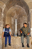 Mitglieder der israelische Armee-Polizei in der alten Stadt von Jerusalem, Lizenzfreies Stockfoto