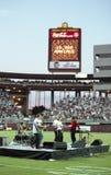 Mitglieder der Wahnsinnige des Band-10.000 am Sun Devil Stadium Stockfoto