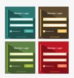 Mitglieder-Login Lizenzfreie Stockfotos