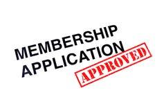 Mitgliedschafts-Anwendung genehmigt lizenzfreie stockfotografie