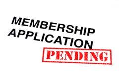 Mitgliedschafts-Anwendung schwebend lizenzfreies stockfoto