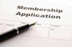 Mitgliedschaftsanwendung Lizenzfreies Stockbild