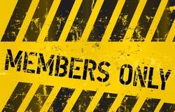 Mitgliedsnur Zeichen Lizenzfreies Stockfoto