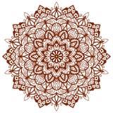 Mith мандалы цветет элемент Мандала шнурка вектора Стоковые Изображения