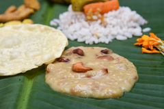 Mithai eller Payasam från Kerala Indien royaltyfria bilder
