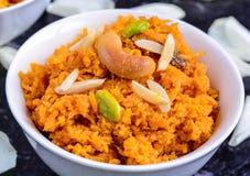 Mithai Gajar Halwa. Gajar Halwa(carrot pudding) Indian Dessert Stock Photo