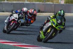 Mithos-Senior-Team 24 Stunden Catalunya-Motorradfahren Lizenzfreie Stockbilder