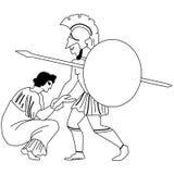 Miti e leggende di Greece-1 antico Immagine Stock
