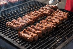 Mititei, Mici, Romanian Traditional Meat Rolls Royalty Free Stock Photo