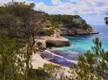 Mitjana Bay on Minorca Royalty Free Stock Images
