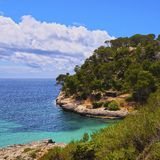 Mitjana Bay on Minorca Royalty Free Stock Photo