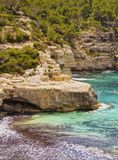 Mitjana Bay on Minorca Royalty Free Stock Photos