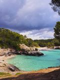 Mitjana Bay on Minorca Stock Photos