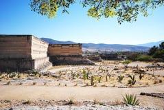 Mitla废墟,墨西哥 库存图片