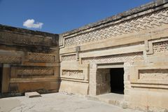 Mitla ancient site, Mexico Royalty Free Stock Photos