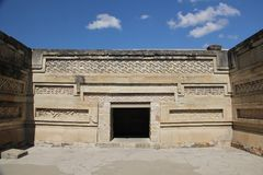 Mitla ancient site, Mexico stock photography