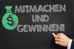 Mitmachen und gewinnen! (Enter to win!) Stock Photo