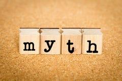 Mito - concetti del bollo di alfabeto Fotografia Stock Libera da Diritti