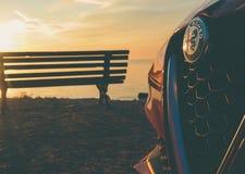Mito rouge dans la plage photographie stock libre de droits