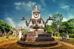 Mitologia e statue religiose al parco di Wat Xieng Khuan Buddha laos Fotografia Stock