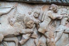 Mitologia greca delle sculture antiche di sollievo Fotografie Stock