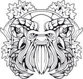 Mitologiczny satyr, konturowa ilustracja Fotografia Royalty Free