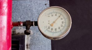 Mitor presser gate scale in industry Stock Image