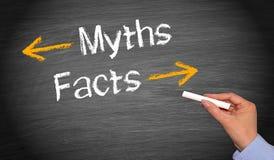 Mitos y hechos Imagen de archivo libre de regalías