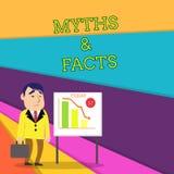 Mitos y hechos del texto de la escritura Concepto que significa historia generalmente tradicional del hombre de negocios aparente libre illustration