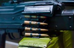 Mitragliatrice con munizioni immagine stock libera da diritti