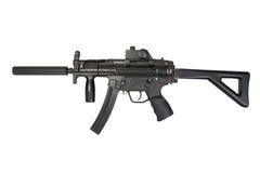 Mitragliatrice leggera MP5 con il silenziatore immagine stock