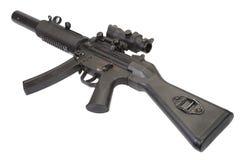 Mitragliatrice leggera MP5 con il silenziatore Fotografia Stock