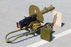 Mitrailleuse historique d'arme Images stock