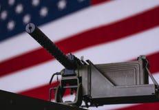 Mitrailleuse M1919A4 légère Images libres de droits