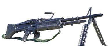 Mitrailleuse M60 sur le blanc Photos stock