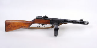 Mitrailleuse russe de PPSh. Photos stock