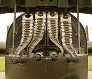 Mitrailleuses d'aéronefs de la deuxième guerre mondiale Image libre de droits