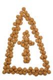 Mitre de noix de gingembre Photographie stock