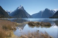 Mitre peak Stock Photos