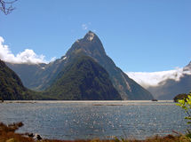 Mitre Peak, Milford Sound Stock Photo